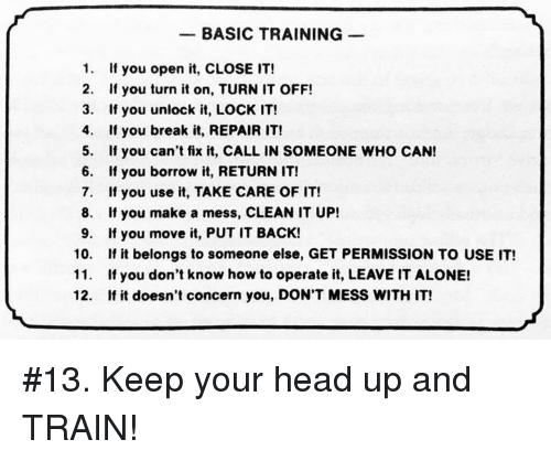 hållbarhet basic training