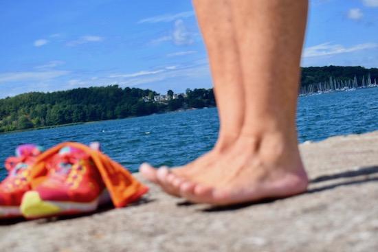 Träna dina fötter för skönare löpning, Malin Lundskog, tåspret_fotträning