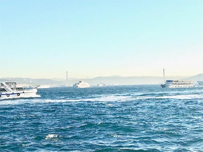 båtar på Bosporen