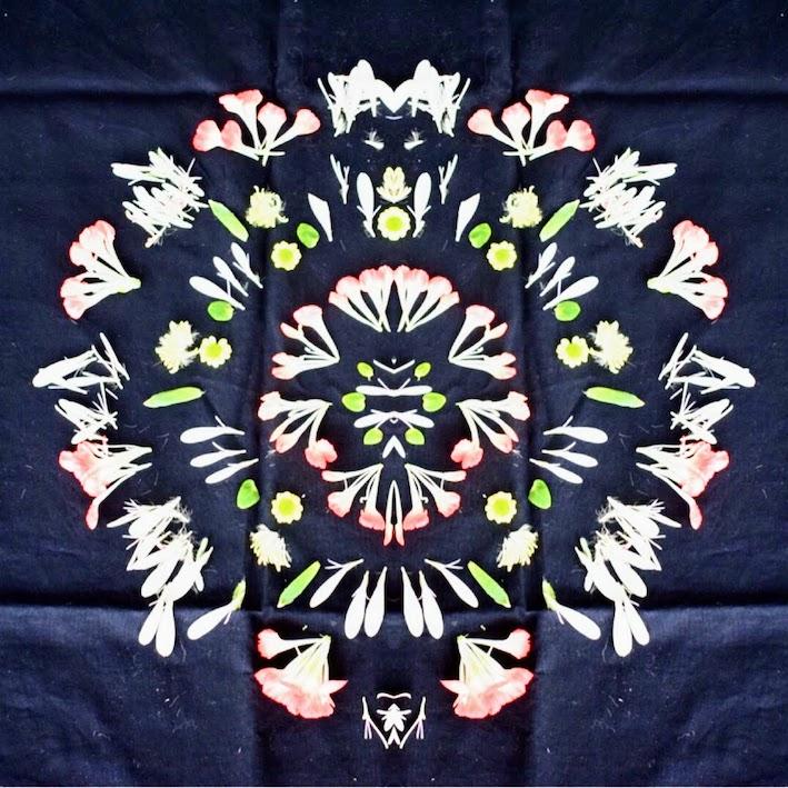 blomstermandala. blomsterpill med Hanna, winterworkation Influencers of Sweden