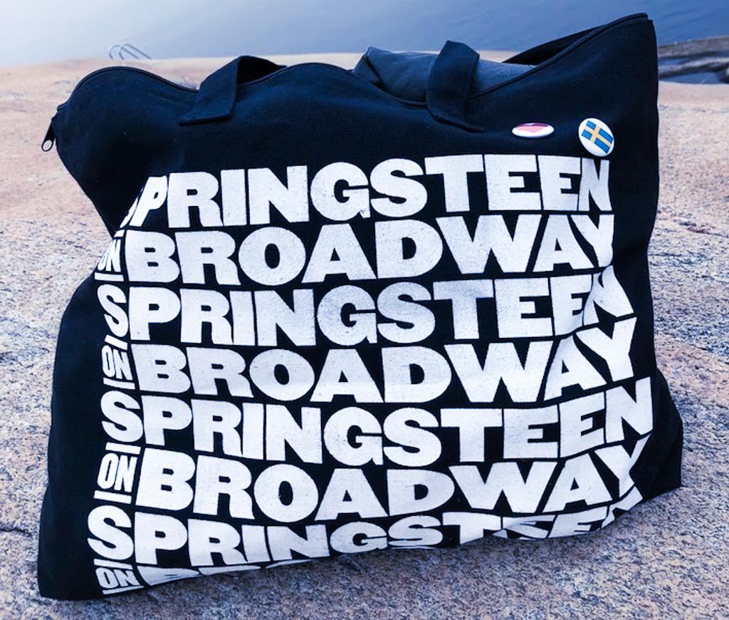 Bruce Springsteen och jag, Springsteen på Broadway, Malin Lundskog, blogg, väska