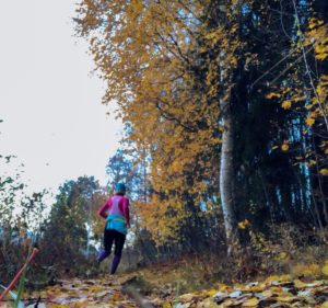 tid och energi, löparglädje, motionera utomhus, höst, naturen, Malin Lundskog