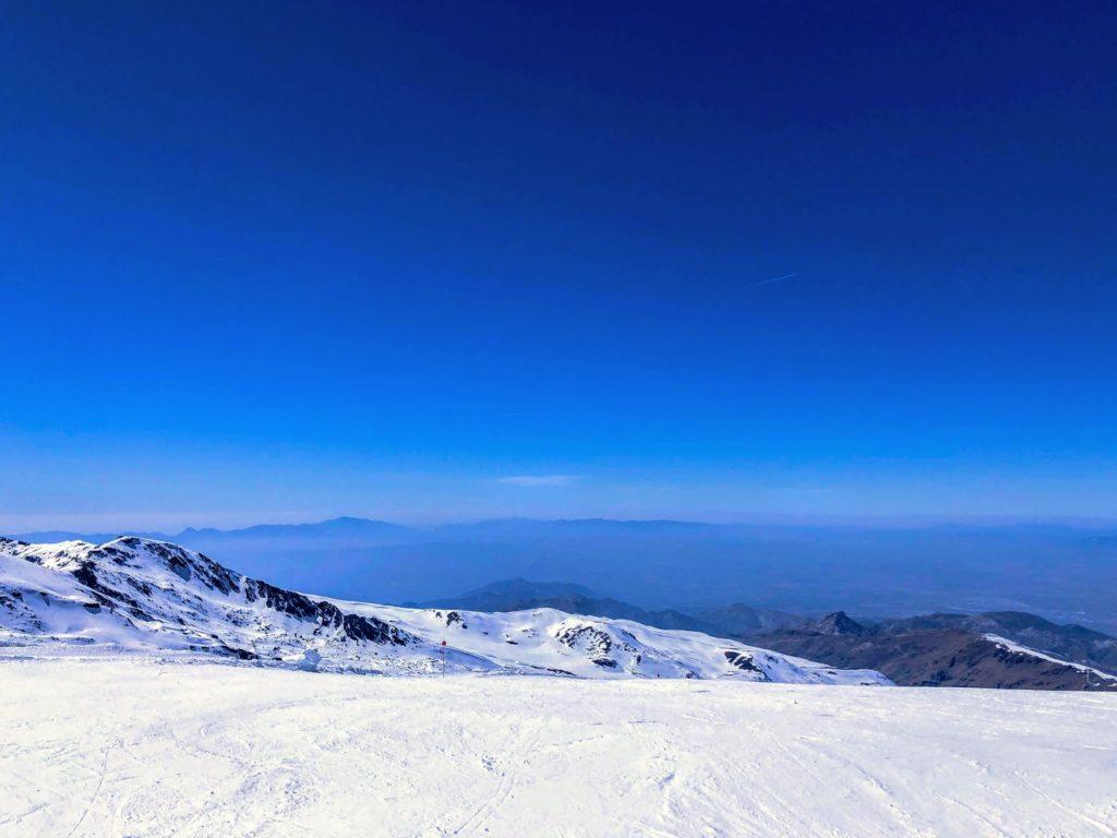 utsikt från 3000 meters höjd i Sierra Nevada