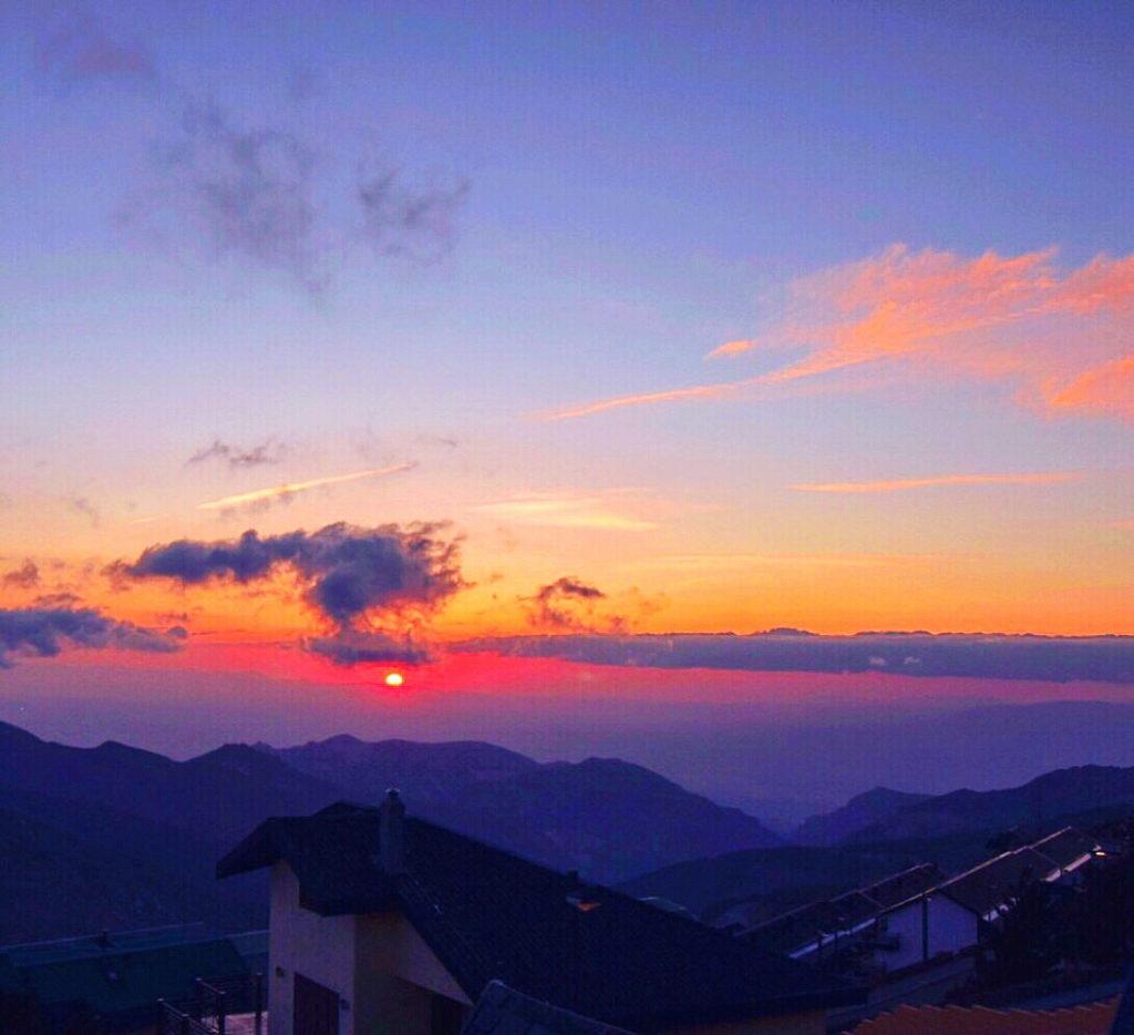 varför åka till Sierra Nevada, utsikt, solnedgång