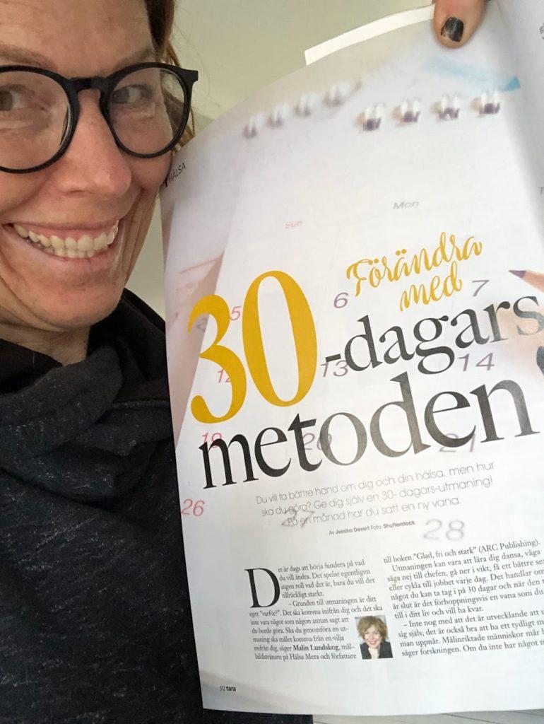 30-dagars metoden för goda vanor i tidningen Tara