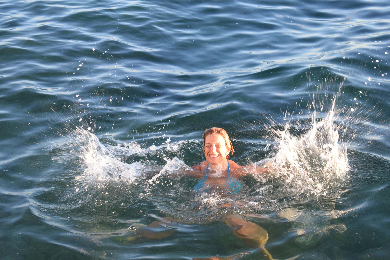 det händer att jag duschar även på sommaren, Malin Lundskog, bada, glädje, havet, Göteborg