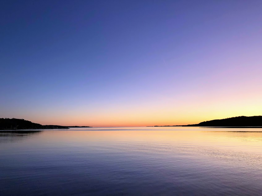 hållbarhet och hälsa, vintertid eller sommartid, havet, solnedgång, Malin Lundskog, natur, Göteborg