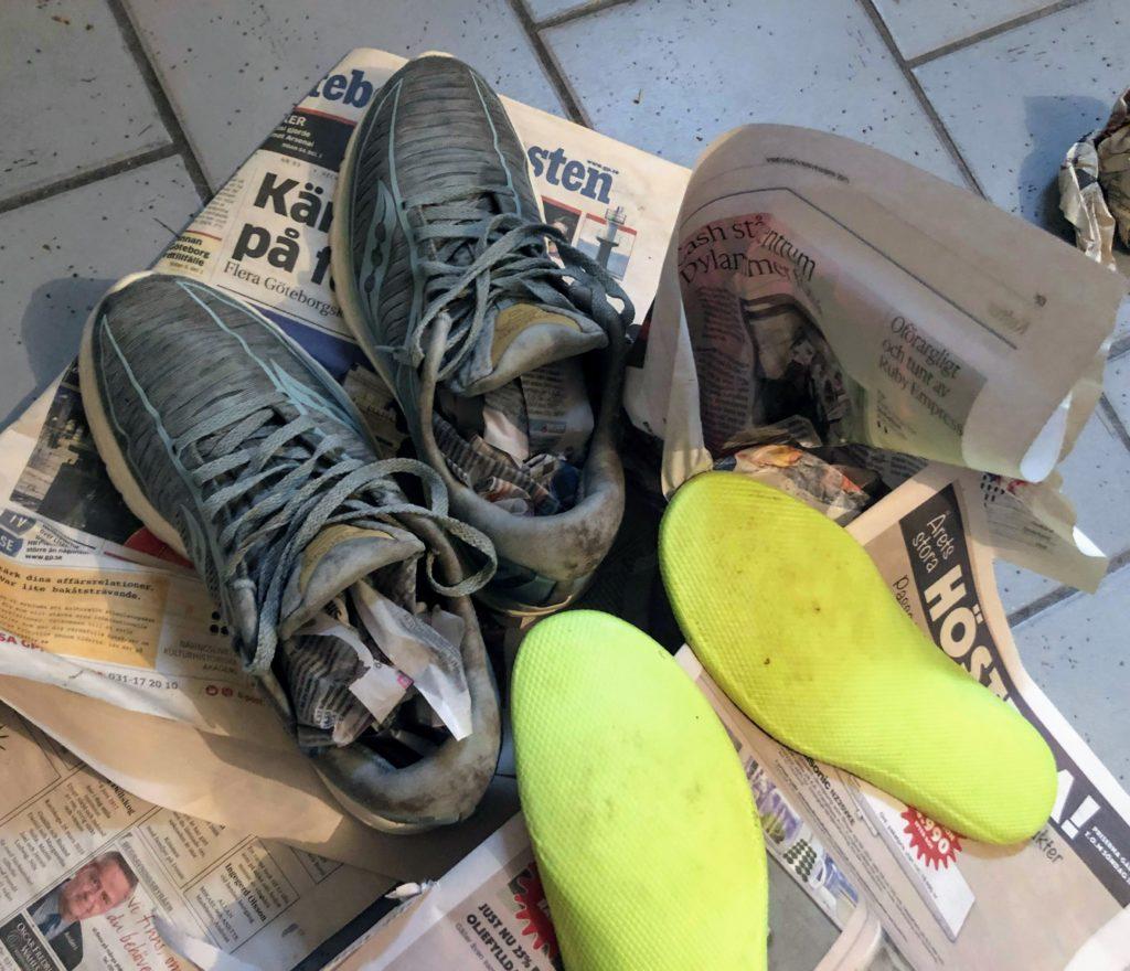 Tips på hur du gör rent dina löparskor så att de håller, torka skor, hållbart, Malin Lundskog