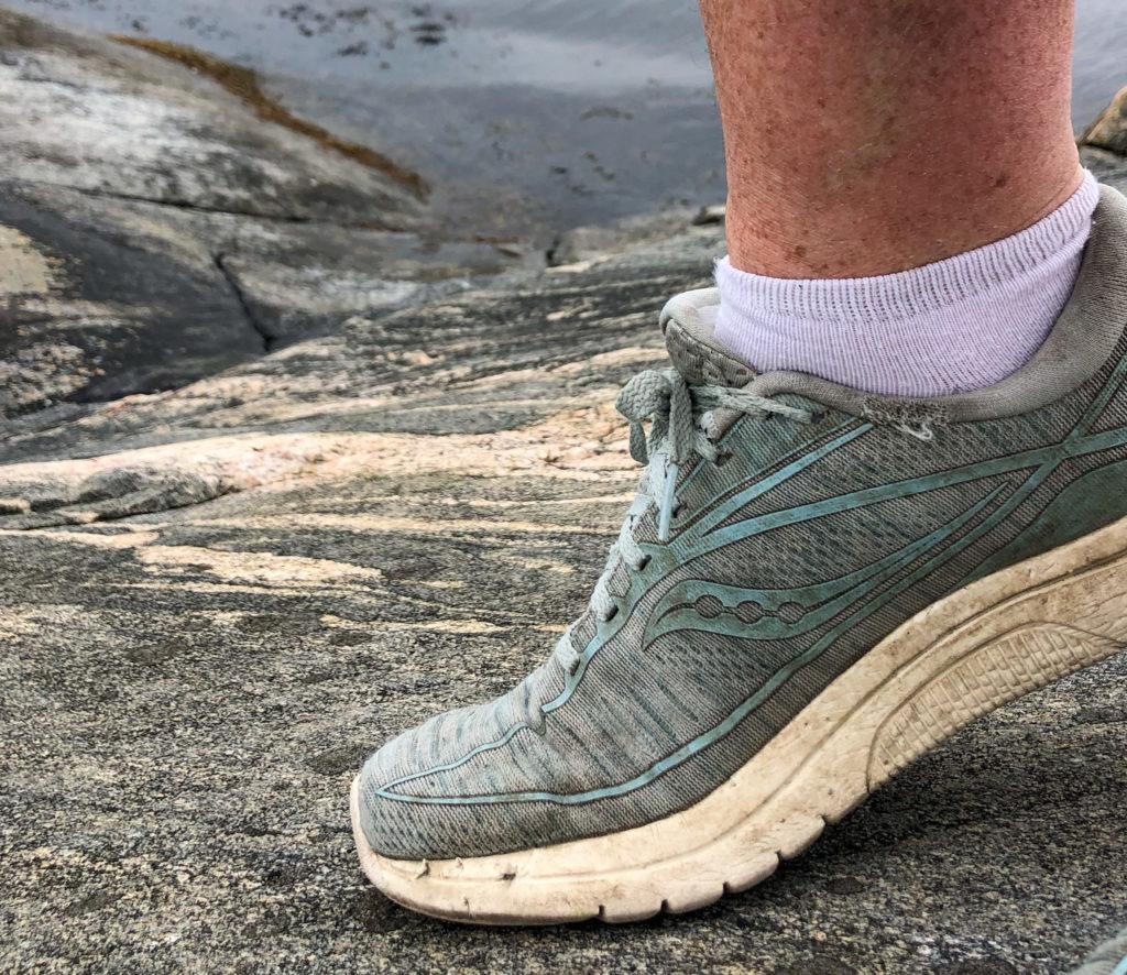 coronamilen, löpning, sko, klippor, Malin Lundskog