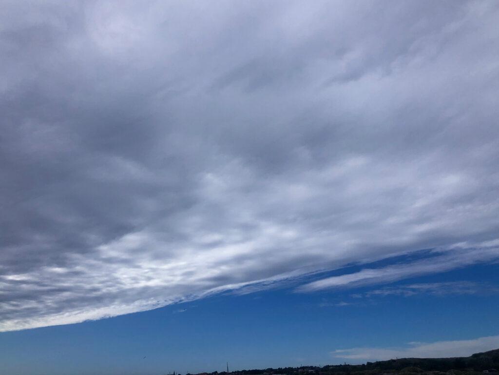 väder, moln, blå himmel