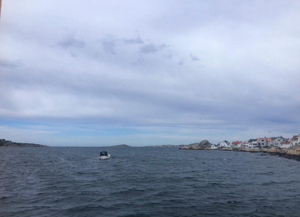 utsikt från Knipplafärjan, havet, västkusten,