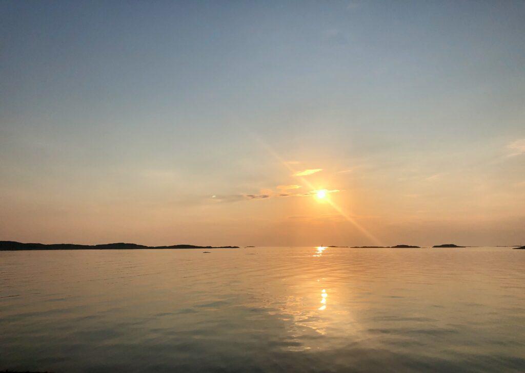solnedgång, västkusten, Knippla, öliv, Malin Lundskog