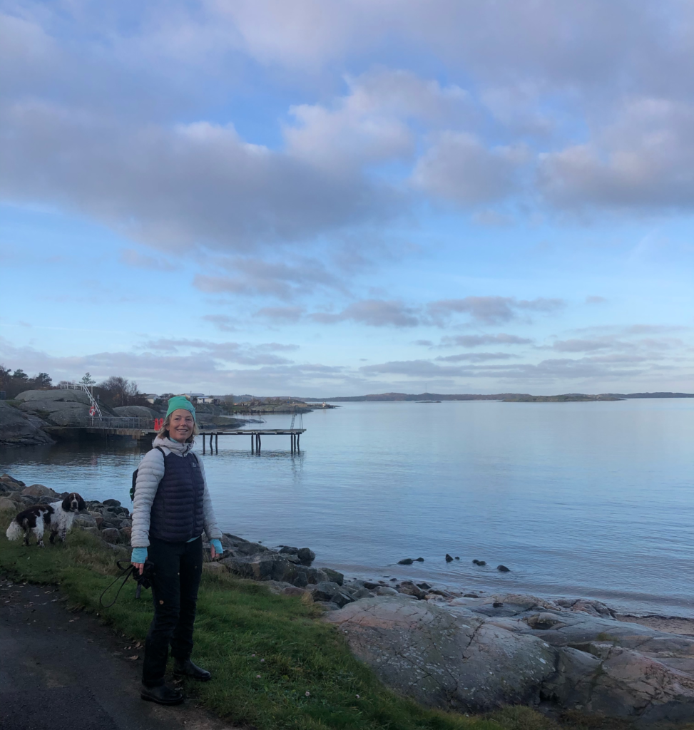 på vandring i Sillviks naturreservat, Göteborg