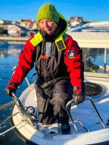 en dag på sjön i januari, Malin Lundskog, västkusten, Knippla