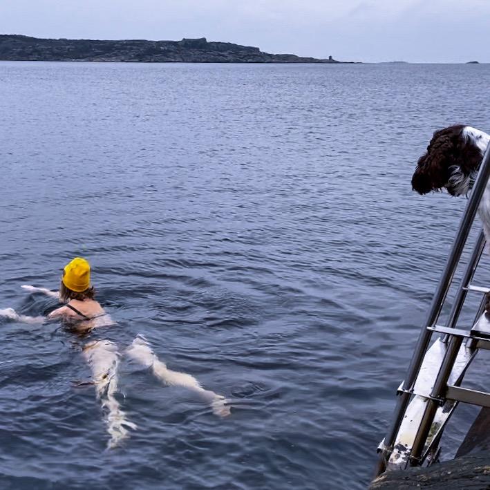 vinterbad, kalla bad, Malin Lundskog, Knippla, västkusten