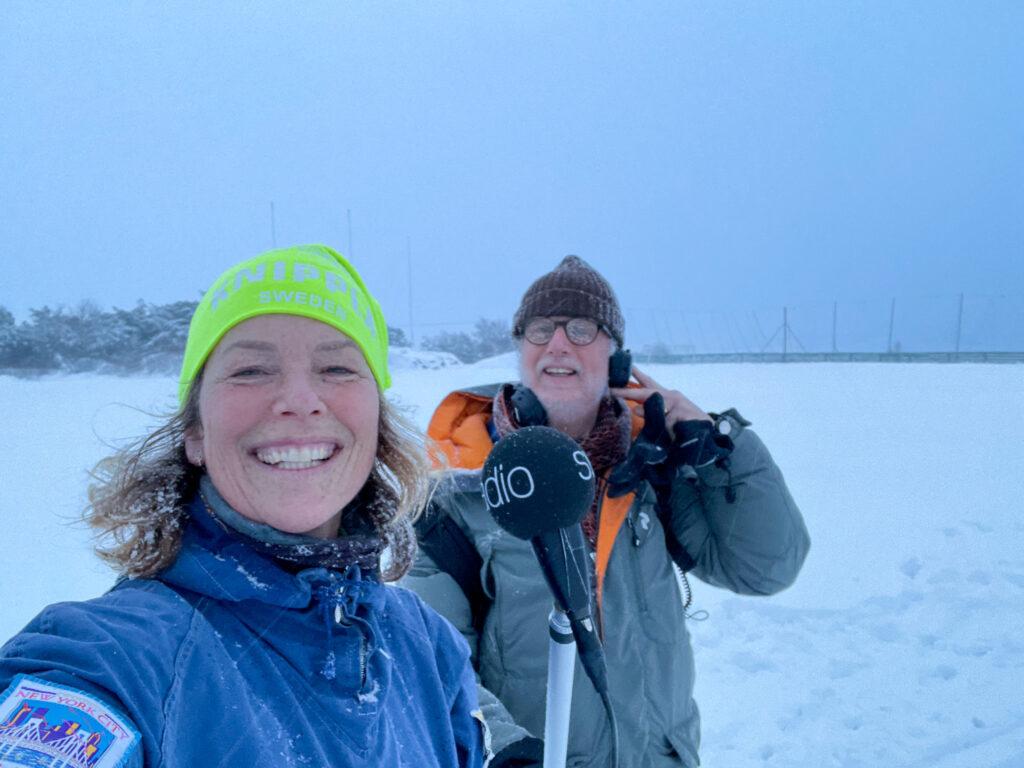 åka skidor på Knippla, Malin Lundskog, P4 Göteborg