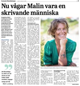 intervju om mig och mitt författarskap, Malin Lundskog
