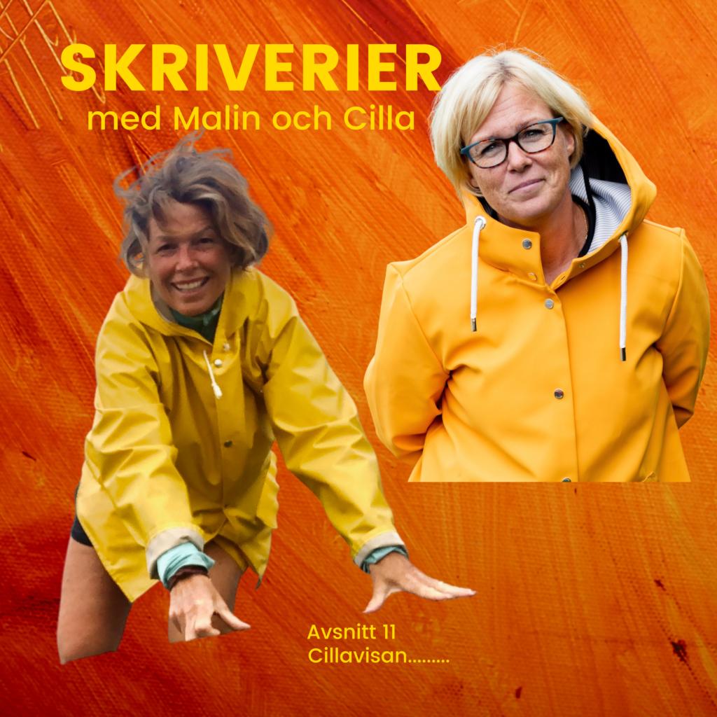 I vår podd om livet som författare, Malin Lundskog, podcast, författare, skriverier med Malin och Cilla